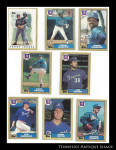 Atlanta Braves 1987 Topps Baseball Cards 8 Pc