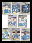 Kansas City Royals 1989 Fleer Baseball Cards 8 Pc