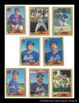 New York Mets 1987 Topps Baseball Cards 8 Pc