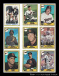 San Diego Padres 1987 Topps Baseball Cards 9 Pc