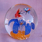 Butterfly Glass Crystal Paperweight