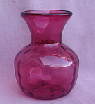 Cranberry Art Glass Vase