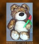 Plush Teddy Bear With Rose