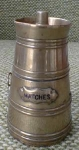 Miniature Brass Match Safe Keg Or Barrel Hinged