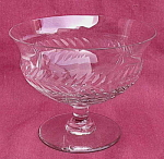 Crystal Pedestal Cut Pattern Candy Dish