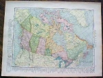 1904 Map Dominion Of Canada And Maritime Provinces