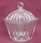 Mikasa Diamond Fire Oval Covered Crystal Dish.