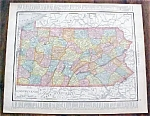 Map Pennsylvania & Philadelphia 1912