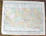 Antique Map South Dakota North Dakota 1912