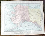 Antique Map Alaska Yukon Canada 1912