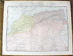 Map Algeria Tunis Morocco Egypt 1912
