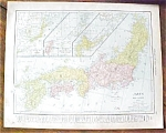 Map Japan Persia Afghanistan 1912
