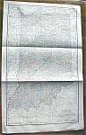 Antique Map Indiana 1906 Large Fold Out