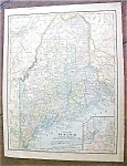 Antique Map Maine & South America 1901
