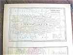 Antique Map Puerto Rico British Columbia 1901