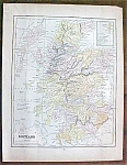 Antique Map Scotland Sweden Norway 1901