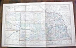 Antique Map Nebraska 1901 Large Foldout