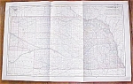 Antique Map Nebraska 1906 Large Fold Out
