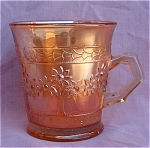 Fenton Orange Tree Marigold Carnival Glass Mug