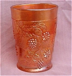Fenton Floral Grape Carnival Glass Tumbler