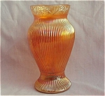 Prism & Daisy Band Carnival Glass Vase