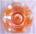 Imperial Diamond & File Carnival Glass Bowl