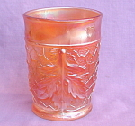 Maple Leaf Dugan Carnival Glass Marigold Tumbler