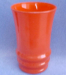 Orange Fired-on Finish Glass Tumbler