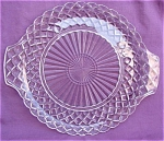 Waterford Waffle Hocking Glass Cake Plate