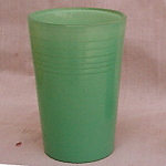 Depression Glass Green Fired-on Juice Glass