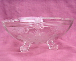 Cut And Pressed Footed Clear Crystal Bowl