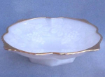 Hocking Grape Pedestal Milk Glass Bowl