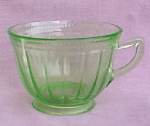 Colonial Fluted Green Federal Cup