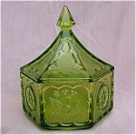 Tiara Lime Green Colonial Candy Box Dish