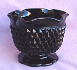 Indiana Tiara Glass Diamond Point Black Candle Holder