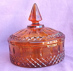 Indiana Glass Princess Amber Candy Box