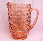 Indiana Glass American Whitehall Peach Pitcher