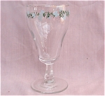 Vintage Painted Water Goblets Blue Flowers