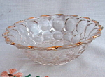Antique Clear Glass Bowl Gold Trim