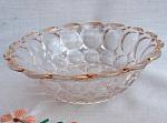 Antique Clear Glass Bowl Gold Trim