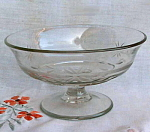 Hand Cut Glass Pedestal Compote 1950's