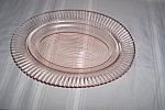 Pink Petalware Large Oval Platter