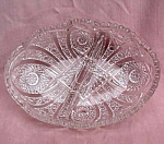 Vintage Pressed Glass Divided Bowl.