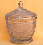 Vintage Pressed Glass Covered Candy Jar