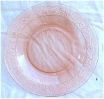 Lacy Sandwich Pattern Pink Glass Bowl
