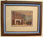 Signed Colored Engraving Cavalier Manor Matted Framed