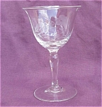 Crystal Cut Flower & Leaf Cocktail Wine Glass
