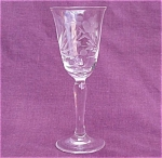 Crystal Cut Flower & Leaf Cordial Glass