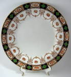 Antique Imari Dinner Plate Colclough England Swags Gold