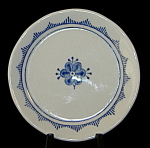 Butter Pat Denmark Blue White English Franciscan Caddy